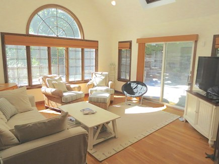 Harwich Cape Cod vacation rental - Atrium ceiling TV lounge exudes space and light.