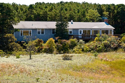 South Wellfleet Cape Cod vacation rental - View of house from dune