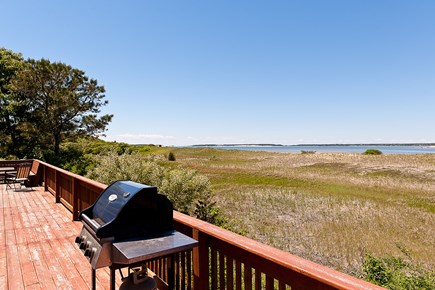 South Wellfleet Cape Cod vacation rental - View of Bay and Great Island from deck