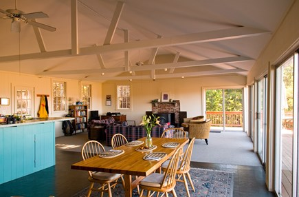 South Wellfleet Cape Cod vacation rental - Dining room and living room