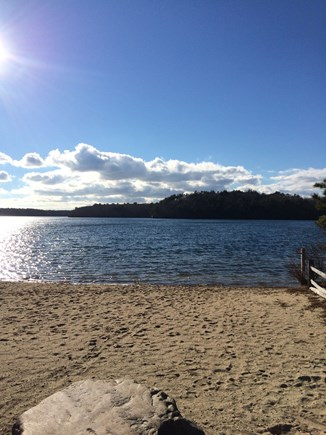 Brewster Cape Cod vacation rental - Deeded access to this association beach on Sheep Pond