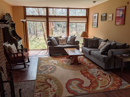 Eastham Cape Cod vacation rental - Spacious light-filled living room with 40 inch screen TV