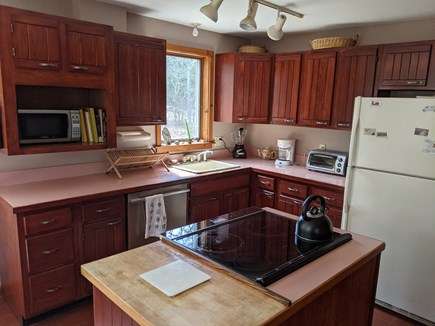 Eastham Cape Cod vacation rental - Microwave, kitchen island and dishwasher