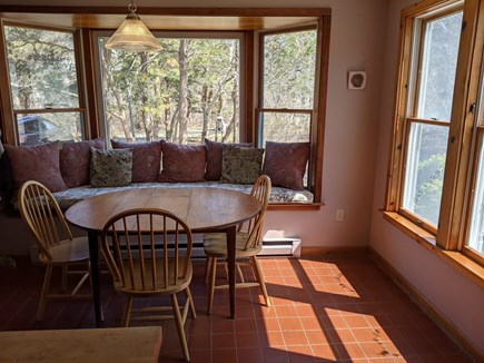 Eastham Cape Cod vacation rental - Sunny window seat in kitchen with screen porch