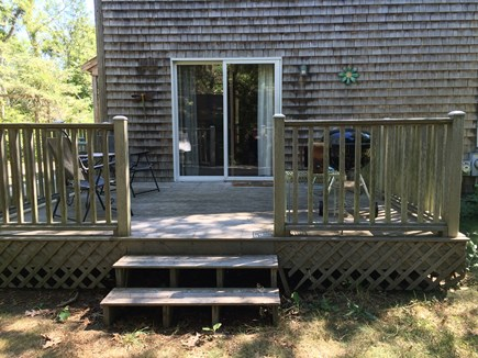 Eastham Cape Cod vacation rental - Back deck with BBQ grill