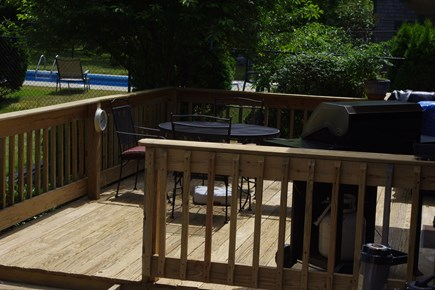 Mashpee Cape Cod vacation rental - Deck off Kitchen with Weber grill