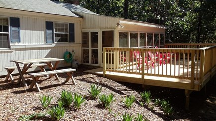 Wellfleet Cape Cod vacation rental - Large Deck off the screened in porch