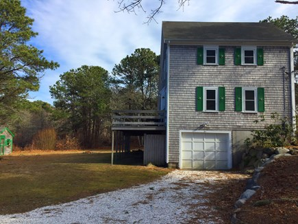 Harwich Cape Cod vacation rental - Look at side of house and back yard area