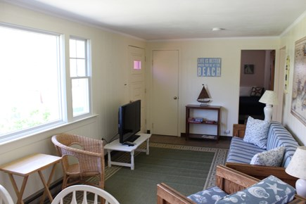 Eastham Cape Cod vacation rental - Living room, this TV is now hung up on wall not on table