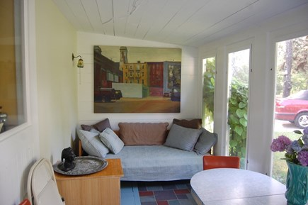 Wellfleet Cape Cod vacation rental - Relaxing porch/dining room