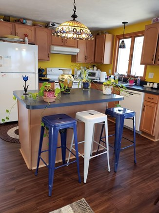 Centerville Cape Cod vacation rental - Complete Kitchen with Island prep and lunch stools
