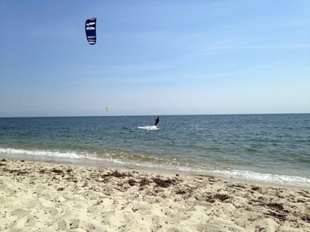 South Yarmouth Cape Cod vacation rental - Parasailing at the Bass River Beach.