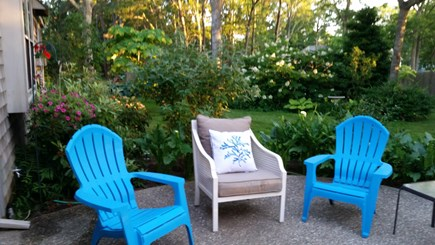 South Yarmouth Cape Cod vacation rental - Beautiful backyard patio with comfortable patio furniture.