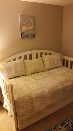 South Yarmouth Cape Cod vacation rental - Cape Cod themed bedroom with trundle bed.