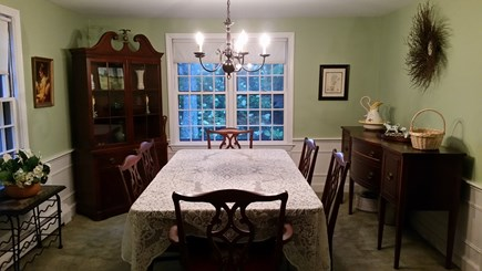 South Yarmouth Cape Cod vacation rental - Formal dining room with seating for six and french doors.