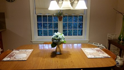 South Yarmouth Cape Cod vacation rental - Large kitchen with seating for four and plenty of counter space.