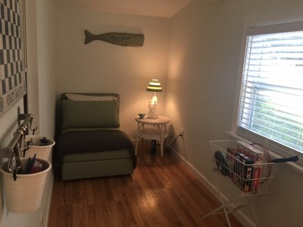 Brewster Cape Cod vacation rental - Front room with sleeper & games