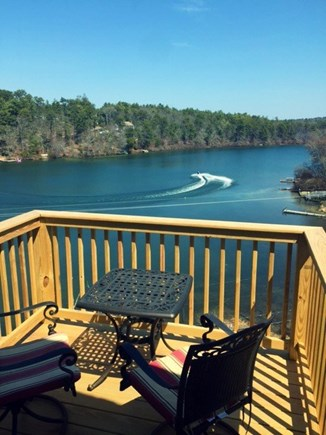 Plymouth MA vacation rental - Upper Level Deck with Sweeping Views of Great Herring Pond