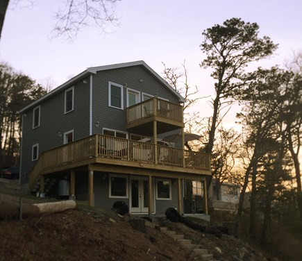 Plymouth MA vacation rental - View of House from Water's Edge