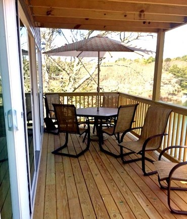 Plymouth MA vacation rental - 2nd Seating and Dining Area on Main Level Deck Over the Water