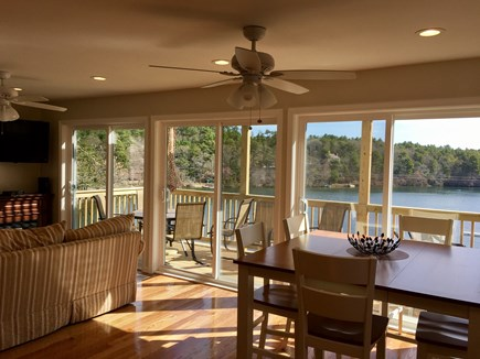 Plymouth MA vacation rental - Living and Dining Areas with a Beautiful Panoramic Water View