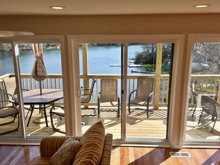 Plymouth MA vacation rental - Wall of Windows with Fantastic View and Direct Access to the Deck