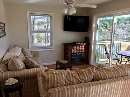 Plymouth MA vacation rental - Spacious Living Area with Flatscreen TV and Modern Furnishings