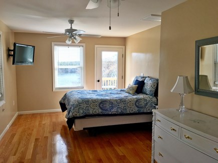 Plymouth MA vacation rental - Bedroom w/Flat Screen TV, Dual Ceiling Fans and Gleaming Floors
