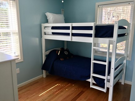 Plymouth MA vacation rental - Bedroom with Bunk Beds and Plenty of Natural Light