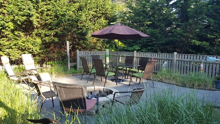Dennisport Cape Cod vacation rental - Fenced upper deck with natural landscape for privacy