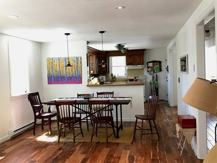 Brewster Cape Cod vacation rental - Living room and kitchen