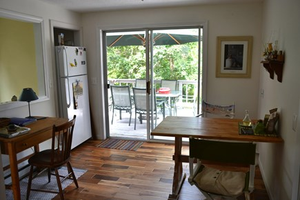 Brewster Cape Cod vacation rental - Breakfast nook and deck, upper level