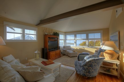 Brewster Cape Cod vacation rental - 2nd Floor Living Room with Queen Sleep sofa, view of Cape Cod Bay