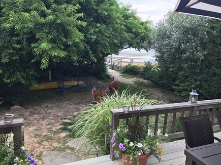 Brewster Cape Cod vacation rental - View of yard and the path to the beach