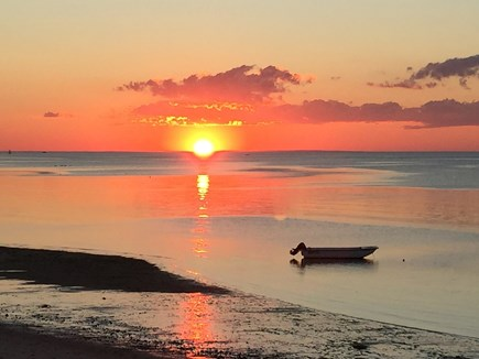 Brewster Cape Cod vacation rental - Sunsets each evening from the Upper Deck