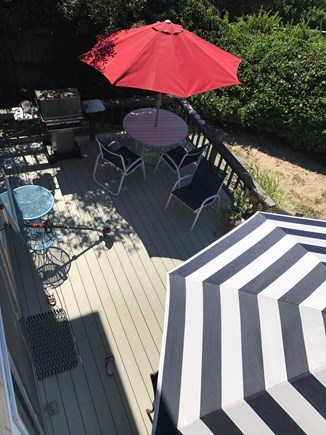Brewster Cape Cod vacation rental - Beachside deck with table, chairs and  gas grill