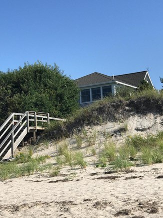 Brewster Cape Cod vacation rental - View of home from private beach