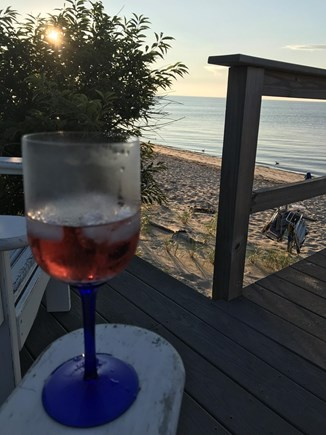 Brewster Cape Cod vacation rental - Sunset view from your beach landing
