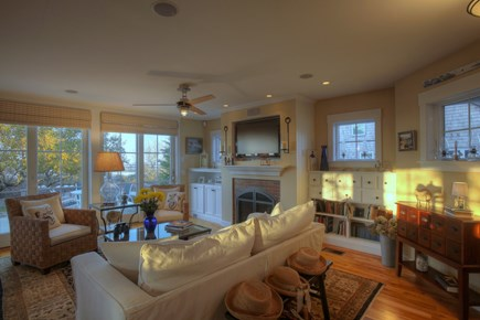 Brewster Cape Cod vacation rental - 1st Floor Living Room overlooking Cape Cod Bay , TV and Cable