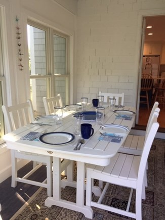 Falmouth Cape Cod vacation rental - Enclosed porch for dining, reading,games, and a couch for naps.