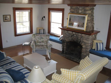 Centerville Centerville vacation rental - Living Room with Stone Fireplace and Mantle