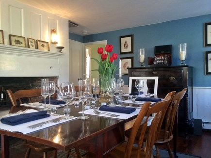 North Truro Cape Cod vacation rental - Large dining room seats 8
