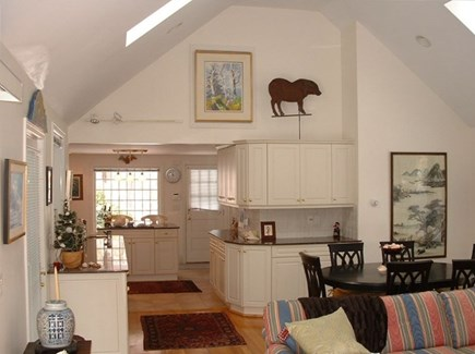 Barnstable Village Cape Cod vacation rental - View into kitchen from family room and dining area