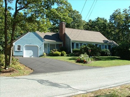 Barnstable Village Cape Cod vacation rental - Front of Cape style house on 1 acre lot in quiet neighborhood
