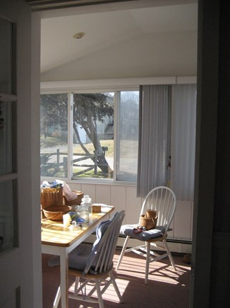 Plymouth MA vacation rental - Sun porch for dining or playing games