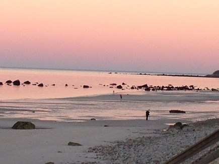 Plymouth MA vacation rental - Beautiful sunset.Low tides for walking and searching for seaglass