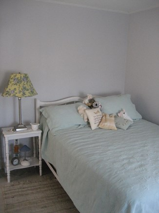 Bourne, Plymouth Cape Cod vacation rental - Full Size bed with comforter.Large Closet area. Nice Breezes