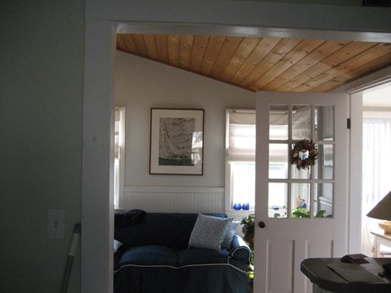 Bourne, Plymouth Cape Cod vacation rental - Bright and sunny living room.