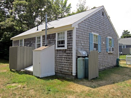 West Chatham Cape Cod vacation rental - Back yard showing outdoor shower