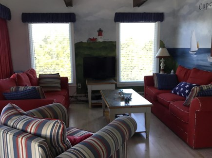 Eastham Cape Cod vacation rental - Upstairs family living room with custom murals